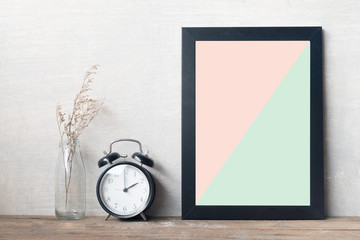 frame and clock in pantone color