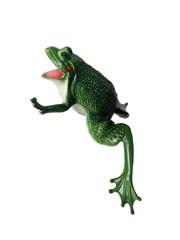 Spielzeug Frosch aus Plastik, freistehend