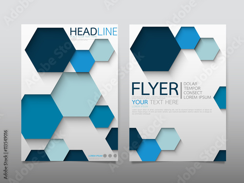 """Blue hexagon business technology annual report brochure"