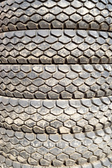 Abstract Stacked Car Vehicle Tires