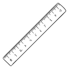 Vector Single Sketch Ruler