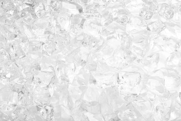 background with ice cubes in white light