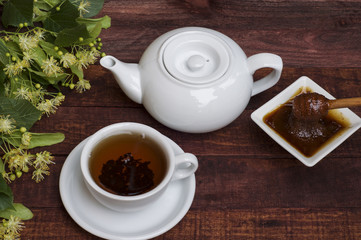 Tea from the flowers of linden