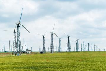 Eco power, wind turbines,   plant