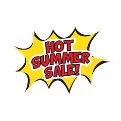 Hot summer sale banner design.