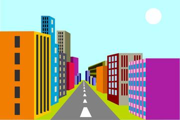 Cityscape. Vector illustration