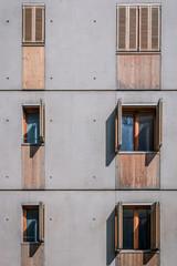 Détail de bâtiments contemporains à Lyon