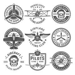 Airplane Emblem Set