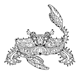 Exotic tropical crab