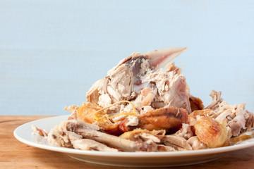 Roast chicken carcass