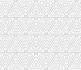 Slim gray rounded triangles with offset