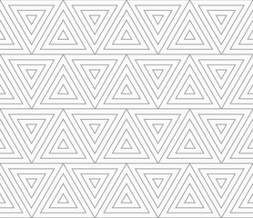 Slim gray triangles with offset
