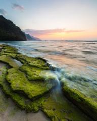 Kauai Moss Rocks at Sunset