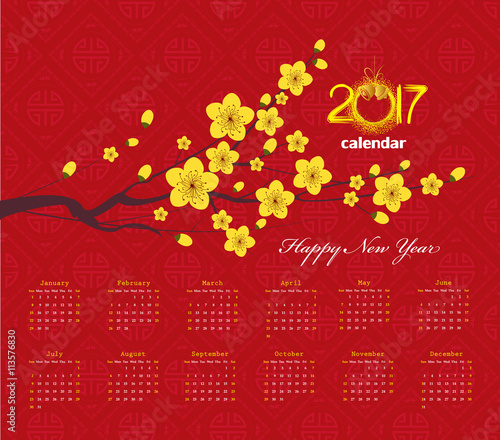 """2017 Chinese New Year Cherry Blossom"""" Stock image and royalty-free ..."""