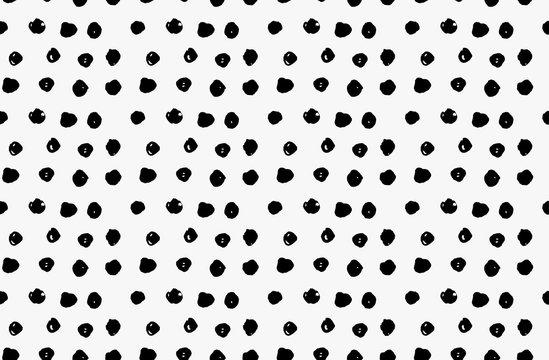 Black marker scribble dots