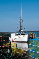 Lobster Boat at the dock