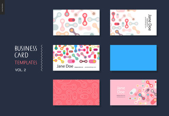 Business card template volume 2 - design template with rounded abstract shapes for designers