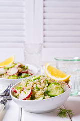 Salad with quinoa and vegetables