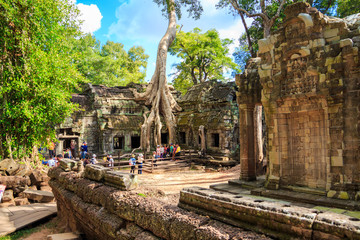 Siem Reap-December 06 : Ta Prohm temple, ancient architecture in Cambodia on December 06, 2015