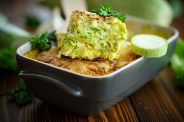 casserole with cheese and zucchini