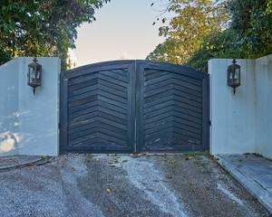 contemporary house gate entrance, Athens Greece