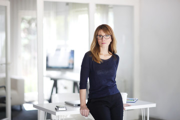 Executive businesswoman working at office