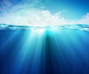 Underwater or under the sea