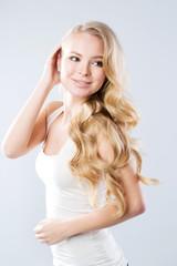 Portrait beautiful blonde.