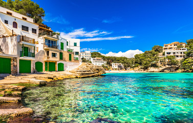 Mediterranean Sea Spain Seaside Cala Santanyi Majorca Balearic Islands Wall mural