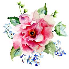 Red Gerber flower