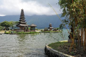 Pura Ulun Danu Bratan temple on the lake at Bedugul