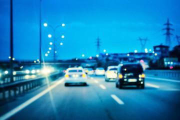 Illuminated the road car