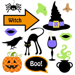 Cute set of Halloween witch photo booth props! Grab a prop and strike a pose!