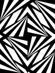 Vector Illustration. Seamless Polygonal Black and White Pattern. Geometric Abstract Background