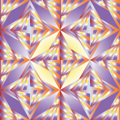 Vector Illustration. Seamless Polygonal Colorful Pattern. Geometric Abstract Background