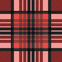 Plaid seamless tartan pattern. Twill texture.
