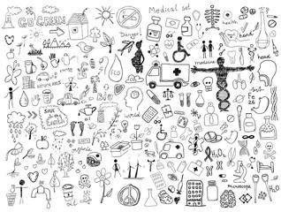 Health care doodles