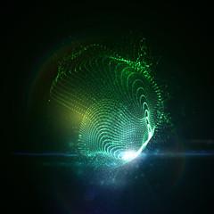 3D illuminated neon digital splash