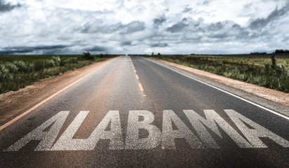 Alabama written on the road