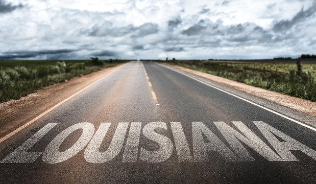 Louisiana written on the road