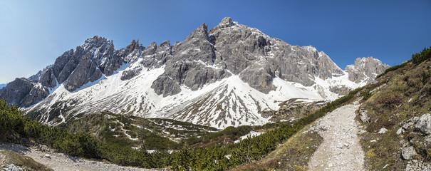 Italy, Alto Adige, Sexten Dolomites with Elfer, Hochpuster Valley