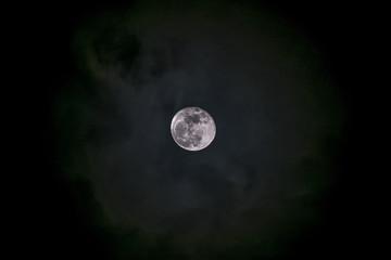 moon on black