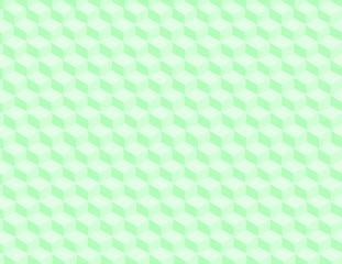3d cubes vector background in green.