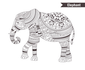 Elephant. coloring book