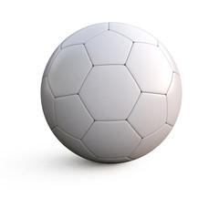 3d illustration of a white soccer ball