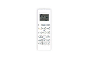 Remote control air-conditioner with white background isolate