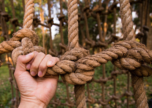 try to climb the rope