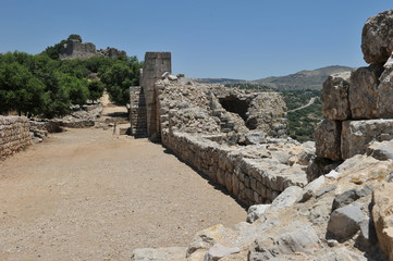 Ancient fortress Nimrod, Golan heights, Israel