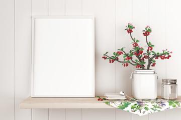 Tela bianca appoggiata a muro country con fiori