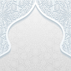 Abstract background with traditional ornament. Vector illustration..